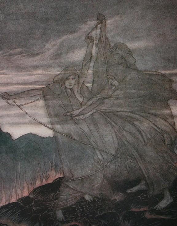 As Nornir, por Arthur Rackham (1911)