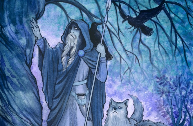 odin_before_his_sacrifice__night_version__by_unripehamadryad-d669fua - Copia