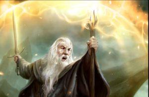 Gandalf: bastão e espada